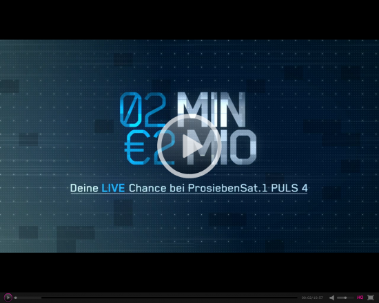 "Online Video Pitch ""2 Minuten 2 Millionen"""