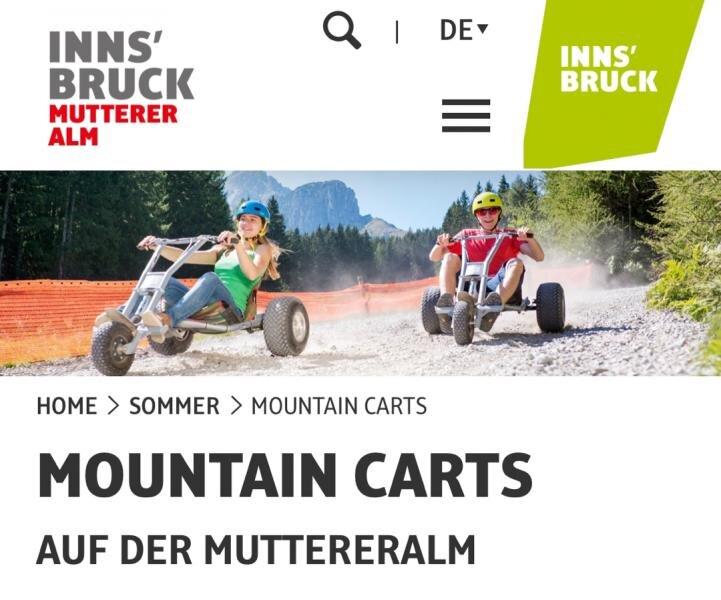 Mountain Cart ab 10 Jahre mit Körpergröße 150 cm nicht